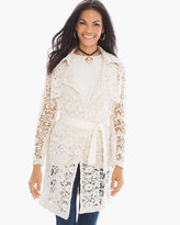 Chico's Lace Limited Trench Jacket