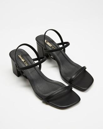 Billini - Women's Black Heeled Sandals - Balton - Size 5 at The Iconic