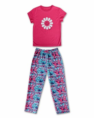Joe Boxer Girls Flower Tee and Pant Set