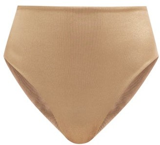 Sara Cristina 90s High-rise Metallic Bikini Briefs - Gold