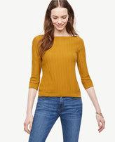 Ann Taylor Textured Bateau Sweater