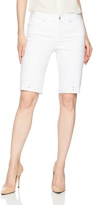 NYDJ Women's Briella Short with Eyelet Embroidery