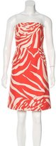 Kate Spade Printed Strapless Dress