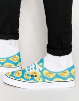 Vans Late Night Pack Authentic Fries Sneakers In Blue V4MKIFB