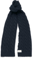 Oliver Spencer Cable-Knit Wool-Blend Scarf