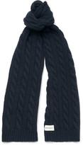 Oliver Spencer Cable-knit Wool-blend Scarf