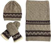 tueselesoleil Winter Men 3 Pieces of Wool Hat Scarf And Mittens Set