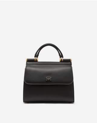 Dolce & Gabbana Small Sicily 58 Bag In Calfskin And Cashmere Split-Grain Leather