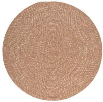 Highland Dunes Winget Braided Evergold Area Rug Rug Size: Round 5'