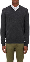 Barneys New York Men's Cashmere V-Neck Sweater-DARK GREY