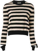 Fendi striped knitted top