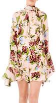 Nicholas Evie Floral Bell Sleeve Dress