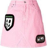 MSGM mini denim skirt - women - Cotton/Acetate/Resin/glass - 40