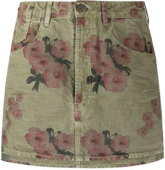 One Teaspoon Faded Crop Floral Skirt