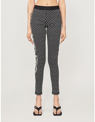 Kenzo High-rise graphic and logo-print cotton-jersey leggings