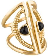Bing Bang Crescent Onyx Ring