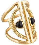 Bing Bang Crescent Onyx Ring