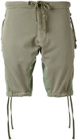 Greg Lauren - drawstring shorts - men - Cotton - 3