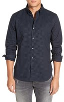 French Connection Men's Trim Fit Woven Sport Shirt