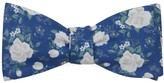 The Tie Bar Royal Blue Hodgkiss Flowers Bow Tie