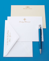 Carlson Craft 50 Gold-Motif Cards with Plain Envelopes
