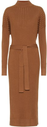 Proenza Schouler Silk-blend turtleneck midi dress