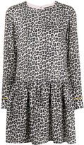 Twin-Set Leopard-Print Peplum Dress