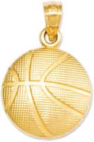 Macy's 14k Gold Charm, Basketball Charm