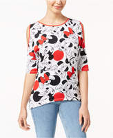 Disney Juniors' Minnie Mouse Cold-Shoulder Top