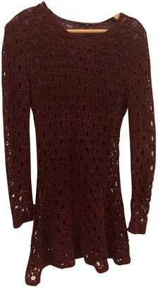 Theyskens' Theory Burgundy Polyester Dresses