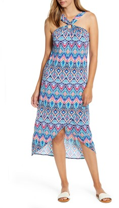 Tommy Bahama Prima Peacock Halter Neck Dress