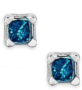 Macy's 10k White Gold Blue Diamond (1/10 ct. t.w.) Stud Earrings