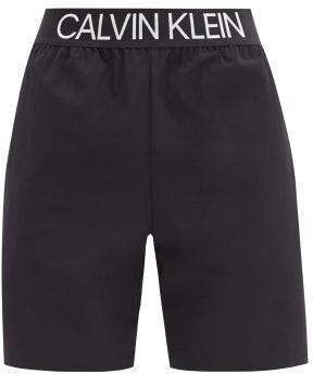 Calvin Klein Logo-waistband Technical-shell Shorts - Black