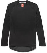 Nike Shell-Trimmed Jersey T-Shirt
