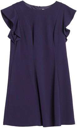 Brinker & Eliza Butterfly Sleeve Scuba Fit & Flare Dress (Plus Size)