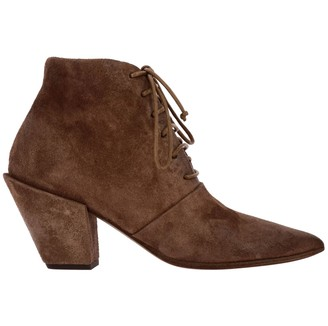 Marsèll Heeled Booties Conino Ankle Boot S In Laced Suede