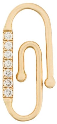 Aurélie Bidermann 18kt yellow gold diamond Paperclip accessory