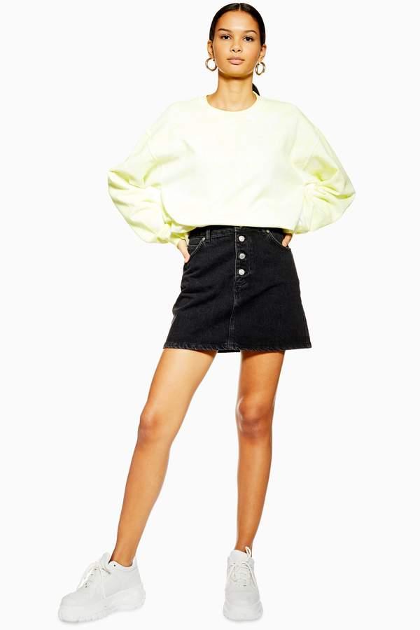 40c5308cb0 Button Skirt Topshop - ShopStyle