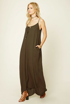 Forever 21 FOREVER 21+ Tie-Front Pocketed Maxi Dress