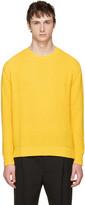 Valentino Yellow Cashmere Crewneck Sweater