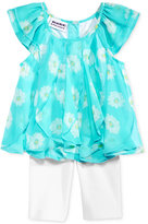 Blueberi Boulevard 2-Pc. Floral-Print Tunic & Bike Shorts, Set, Baby Girls (0-24 months)