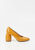 Dries Van Noten camel leather heel