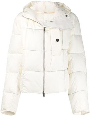 Zilver Recycled Nylon Short Puffer Jacket