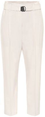 Brunello Cucinelli High-rise straight wool-blend pants