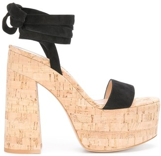 Gianvito Rossi platform ankle-wrap sandals