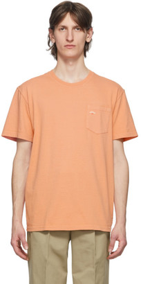 Noah NYC Orange Logo Pocket T-Shirt