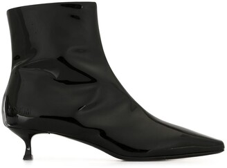 MSGM High-Shine Finish Ankle Boots
