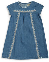 Lucky Brand Girls 7-16 Embroidered Chambray Dress