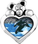 GiftJewelryShop Killer Whale Show Peridot Crystal August Birthstone I Love You Heart Care Bear Charm Beads Bracelets