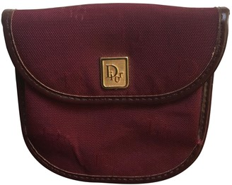 Christian Dior Burgundy Cloth Purses, wallets & cases